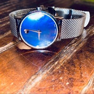 Movado Museum Classic Blue Mother of Pearl Dial